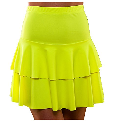 Neon 80s Ra Ra layered skirt for women. Choice of colours.