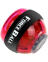 troxie (TM) venta caliente muñeca Poder fuerza Ball con iluminación LED brazo muscular ejercicio giroscopio fortalecedor Grip Ball 5colores, rojo