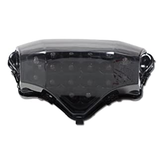 Motorrad LED Rücklicht Yamaha Fazer / FZ6 -10, getönt, Reflektor schw., E-geprüft