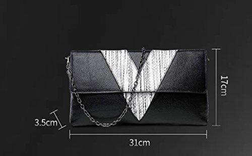 Home Monopoly Sacchetto di borsa della frizione della borsa della busta Sacchetto di mano di grande capacità del pacchetto / con la cinghia di spalla ( Colore : #B ) #B