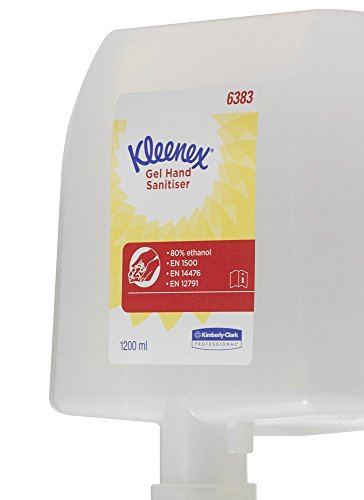 Kleenex 6383 Feuchtigkeitsspendendes Handdesinfektionsmittel auf Alkoholbasis, 1,2 Ltr, 4 x 1,2 ltr kassette, transparent - Frei Von Alkohol Feuchtigkeitsspendend