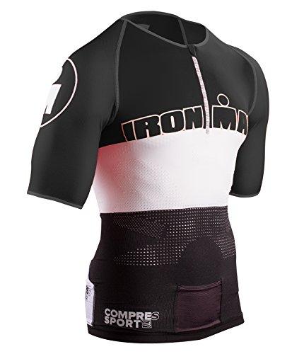 COMPRESSPORT TR3 Aero Triathlon Top Unisex Ironman Edition Stripes Red Größe T3 | L 2017 Triathlon-Bekleidung