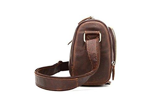 DJB/aktuellen Man Tasche Retro Herren Fashion Freizeit Single Schulter der Staubbeutel Crazy Horse Leder 1