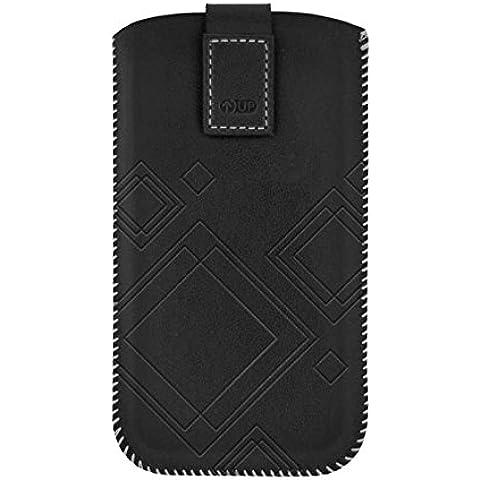 4-OK Up Premium - Funda para Samsung Galaxy SIII/S4/S5 Mini/Alpha, negro