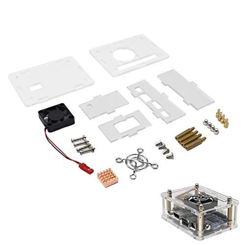 DIY Arcylic Case + für Orange Pi One Fan + Copper Heatsink Kits Kühl Orange Case Fan