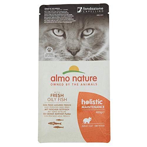 almo nature Holistique Maintenance Complet pour Chats Adultes Nourriture sèche avec Poisson Frais Grasses-400g
