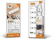 LDNIO SC4408 DEFENDER SERIES – 4 Power Socket 4 USB 3.4A 2500W Power Strip (2 Meters Cable)