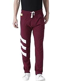 Club York Men Maroon Cotton Blended Track Pant