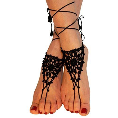 ZOYLINK Barfuß Sandalen handgefertigte dekorative Fuß Schmuck Fußkette für Frauen