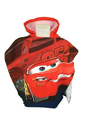 CARS FLASH MAC QUEEN Capa de baño-Poncho de baño microfibra 100% poliéster-110x 55cm-Cars-Disney-Flash...