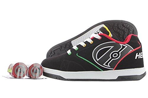 Heelys Propel 2.0 770255, Chaussures avec 1 Roue Garçon, Noir/Marron, 40 2/3 EU Black / Reggae