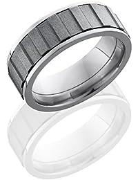 Titanium and Zirconium, Geared Zirconium Spinner Wedding Band (sz H to Z1)
