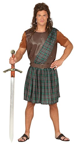 Fiestas Guirca Kostüm Scottish Krieger William Wallace Braveheart