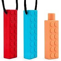 Collar Mordedor para Niños Masticar Collar Chewlery Sensorial Chew Necklace Set para Niños, Dentición de Silicona Chewer Motor Oral para Masticar Juguete para ADHD, SPD, ASD/SD, Autismo, Morder