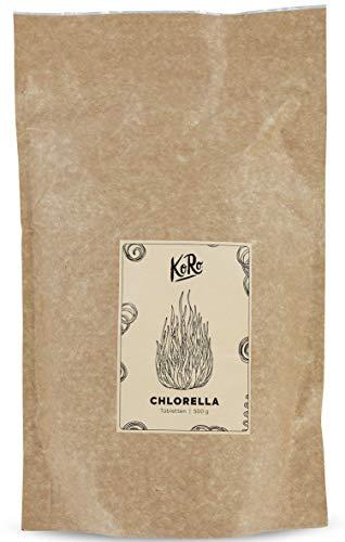 Compresse di Chlorella Bio  superaliment Bio  alta qualità, senza Additivo  incluso 500g  koro