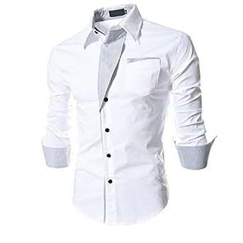 N T FASHION Men's Casual Shirt (White, 38)