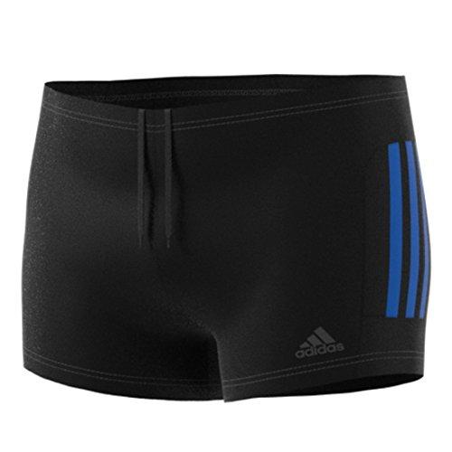 Adidas CW4813 Short de Bain Homme, Black/Hirblu, FR : XL (Taille Fabricant : 10)