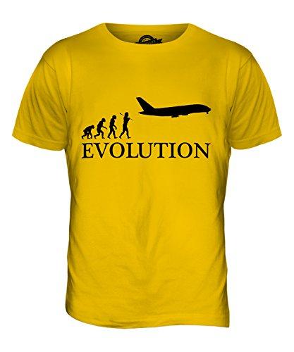 CandyMix Flugzeug Evolution Des Menschen Herren T Shirt Dunkelgelb