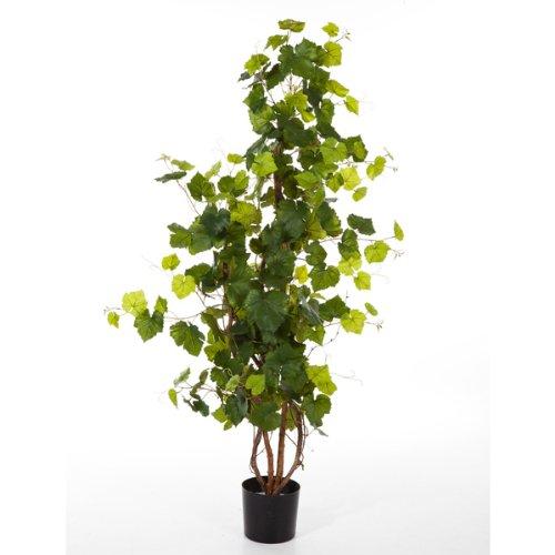 artplants – Künstliche Weinrebe IDA mit 204 Blättern, 120 cm – Unechte Rebe/Deko Wein Rebstock