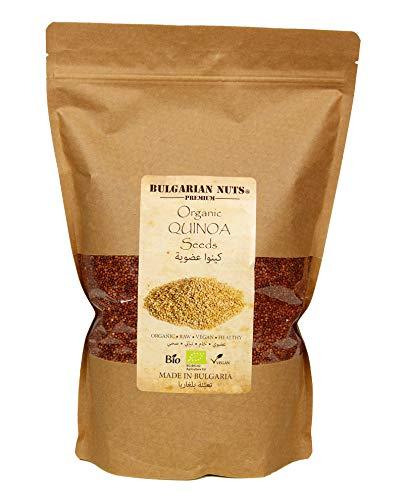 1,5 kg di Quinoa rossa bio integrale, pura, pulita, cruda, vegana - Bulgarian Nuts