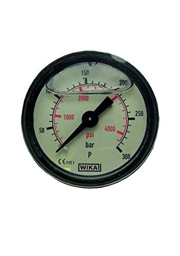 pwpuk Hochdruckreiniger Manometer 0-300 bar 4351 psi Kunststoffkörper Glyzerin gefüllt -
