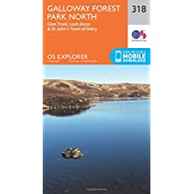 Galloway Forest Park North 1 : 25 000 (OS Explorer Active Map)