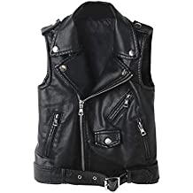 more photos de902 b7728 Amazon.it: gilet donna pelle - Nero