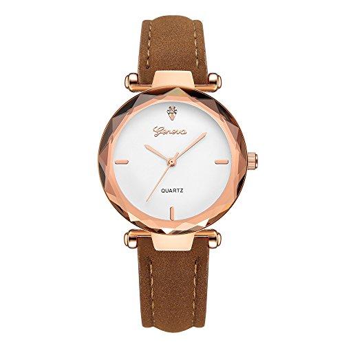 Qmber Herren Damen Uhr Sport Wasserdicht Analoger Quarzwerk Fashion mit Edelstahl Leder Armband armbanduhren