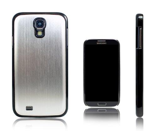 Xcessor Brushed Gun Metal Schutzhülle Für Samsung Galaxy S4 i9500. Metal & Gummierter Plastik. Silbe (Samsung Galaxy Light Case Wallet)