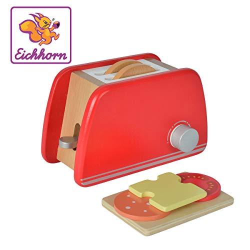 Toaster aus Holz mit Zubehör, 7-tlg., 11x19x11,5cm, Birkenholz ()