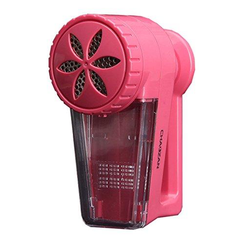 Fusselrasierer Elektrischer Fusselentferner Kleidung für verschiedenen Stoff, kein Notwendigkeitsbatterie (Rot)
