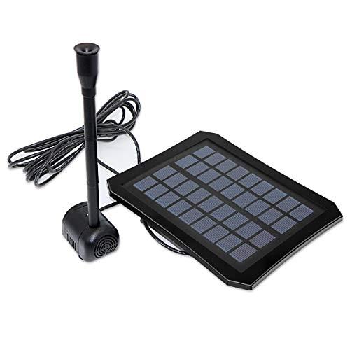 Caracteristicas:   100 nuevo y de alta calidad   Kit de bomba de fuente con energía solar, no se necesita otra energía o batería   Equipado con una colorida luz LED, que solo se ilumina en condiciones de poca luz, y agrega un hermoso ambiente para...