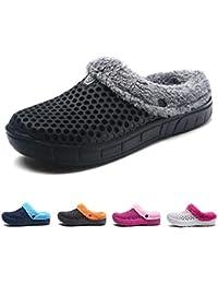 MEAYOU Uomo Donna Pantofole Invernali Unisex-Adulto Slip-on Caldo Scarpe  Pantofole Foderate di Pelliccia Estate Outdoor Sabot Clogs 13371822246