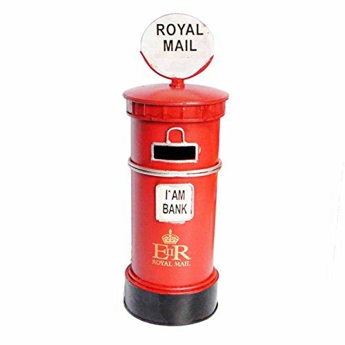 sten Sparschwein Royal Post Box Spartopf Spardose Tischdekoration (rot) ()