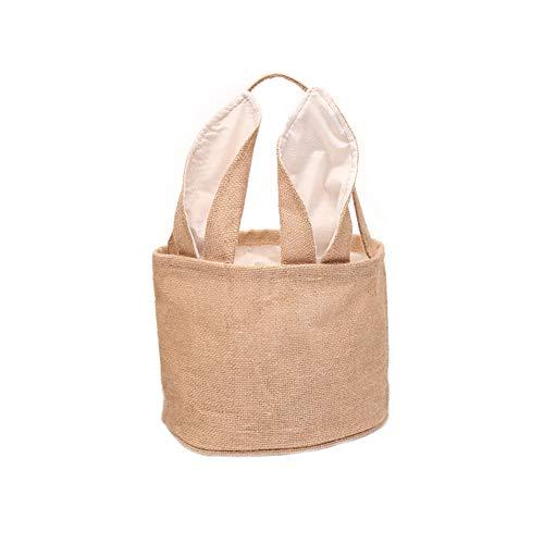 Anywow Ostern Sackleinen Korb Hase Tasche Osterei Jagd personalisierte Süßigkeiten und Geschenke Tasche für Kinder