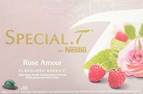 SPECIAL.T by Nestlé Thé Vert Parfumé Rose Framboise Rose Amour  10 capsules - Lot de 4