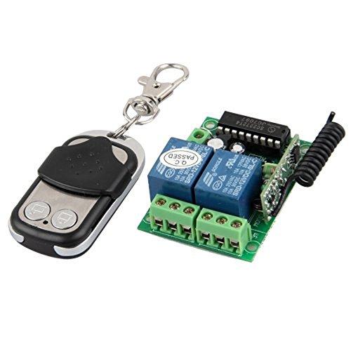 Leorx 2 channel 12v 10a universal gate garage wireless for 12v garage door opener remote