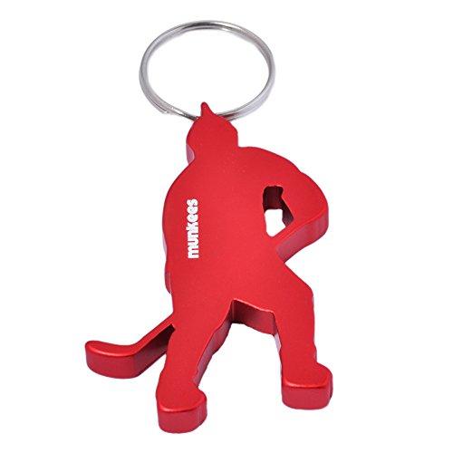 (munkees Schlüsselanhänger Eishockey-Figur Flaschenöffner, Rot, 3497)