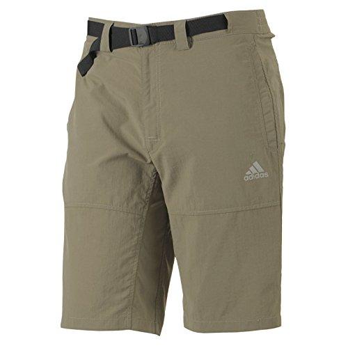 adidas Outdoor und Trekking Hose Kurze für Herren mit UV Schutz 50+, Bitte Größe wählen:50, Farbe:Sand