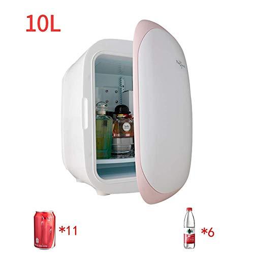 Kievy Mini-KüHlschrank Elektrisch KüHler Und WäRmer (10 Liter / 11 Dosen) Tragbarer Kleiner AutoküHlschrank Heiz- Und KüHlbox,Haushalt Kosmetikmedizin KüHlschrank (Color : Pink)