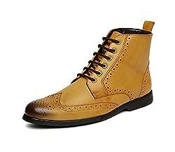 San Frissco Mens Tan Combat Boots - 7 UK