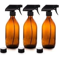 Nomara Organics Vaporizador en Botella de Cristal Ámbar Set 500 mL. Reutlizable / Eco-friendly / Orgánico / Limpieza.