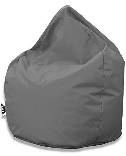 Sitzsack Tropfenform für In & Outdoor | XXL 420 Liter - Anthrazit - in 25 versch. Farben und 3 Größen