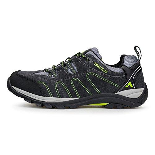 chaussures de marche Unisexe adultes en daim Derbies Beau sportif Hiver Sneakers Vert