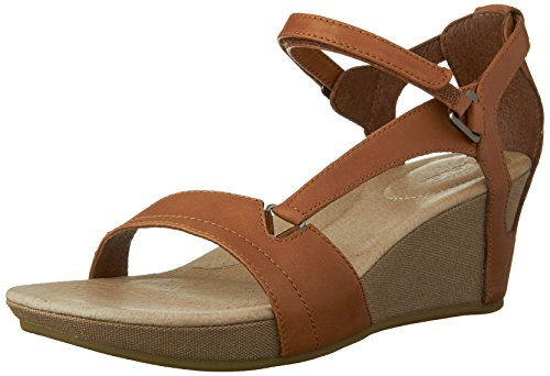 Braune Riemchen Wedges (Teva Capri Wedge W's, Damen Sport- & Outdoor Sandalen, Braun (884 toffee), 41 EU (8 Damen UK))