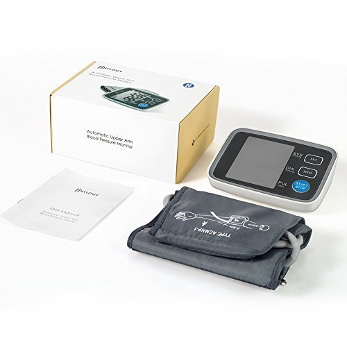 HYLOGY Misuratore Pressione da Braccio Digitale, Sfigmomanometro da Braccio Pressione Arteriosa, Grande Schermo LCD, 2 * 90 Posizioni di Memoria (grigio) (GRIGIO) - 9