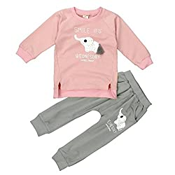 DAYSEVENTH Kid Girls Boys Elephent priting Long Sleeve Sweater+Pant Sports Suit