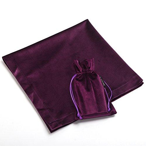 BLESSUME autel Tarot Nappe avec une pochette (Violet)