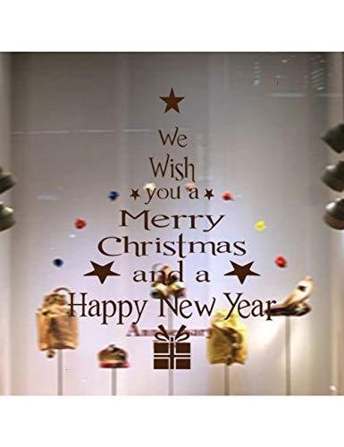 Abnehmbare 3D Weihnachtsfenster Aufkleber Baum Vinyl Display Aufkleber Für Wand , C ()