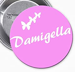 Idea Regalo - Spilla con scritta Damigella della Sposa per accompagnare la Festeggiata a feste di Addio al Nubilato e Matrimonio